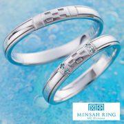ふたりの愛の誓いをミンサー模様に込めて。MINSAH RING【婚約指輪・結婚指輪のJKプラネット】