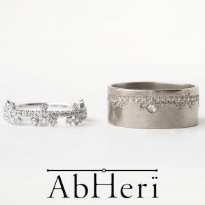 アベリ マリッジリング【花綱飾り】