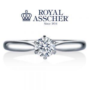ロイヤルアッシャーダイヤモンド 婚約指輪 ERA260