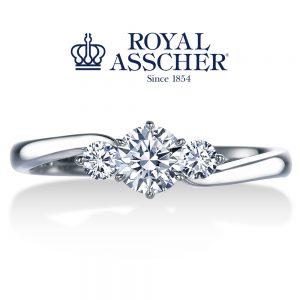ロイヤルアッシャーダイヤモンド 婚約指輪 ERA680